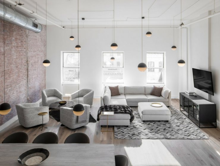 Industrial Dining Room Lighting Designs Shine in a New York Loft FEAT