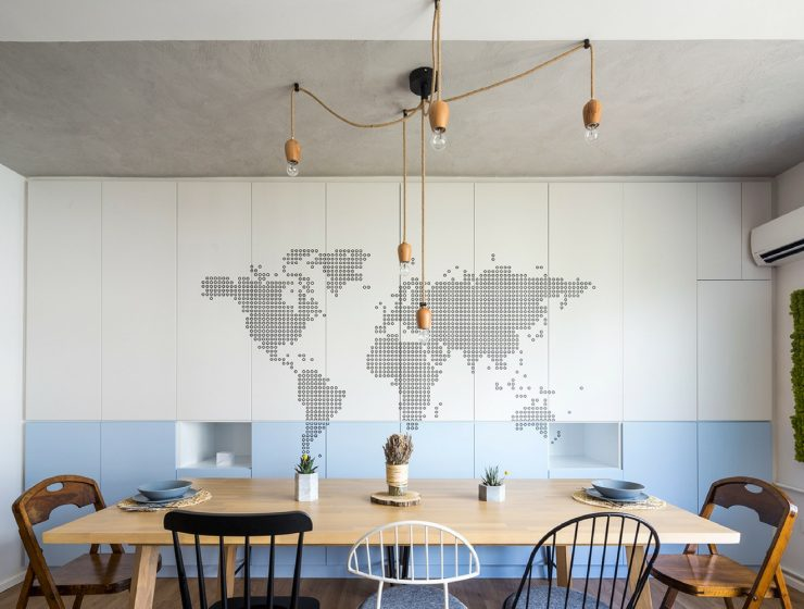 Modern Dining Room Filled with Industrial Lighting in Istanbul FEAT