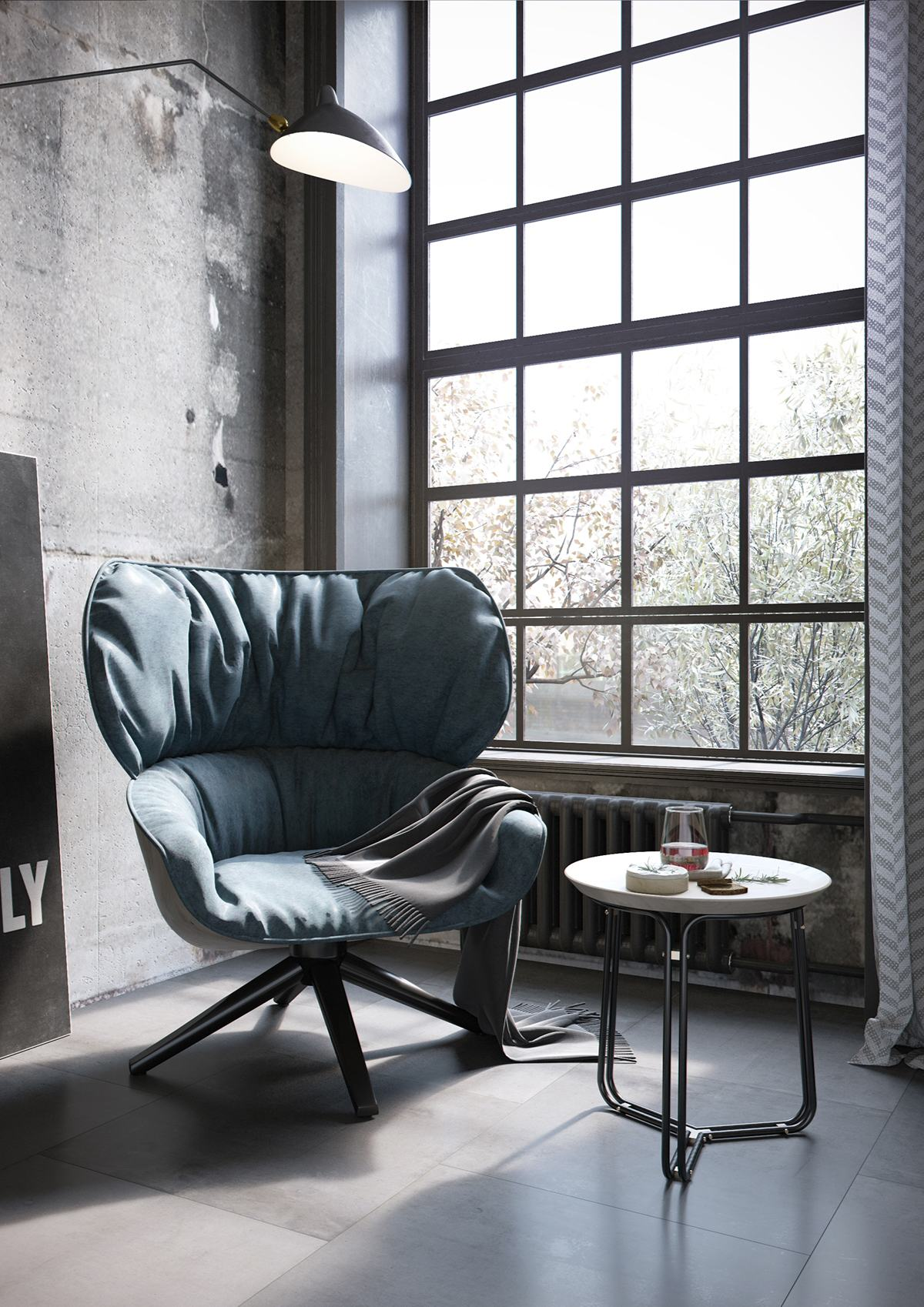 Dining Room Chandelier Brightens Up Industrial Loft 2