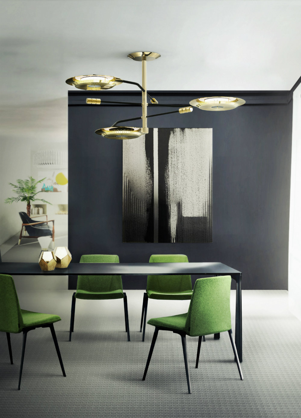 This Pantone Color Looks Beautiful Mixed With Golden Shades Or Even Other  Types Of Green. Perfect Paired With A Golden Dining Room Lighting Design,  ...