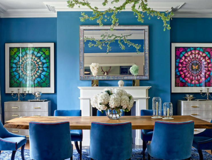 What's Hot on Pinterest- Keep Calm with These Blue Dining Rooms FEAT