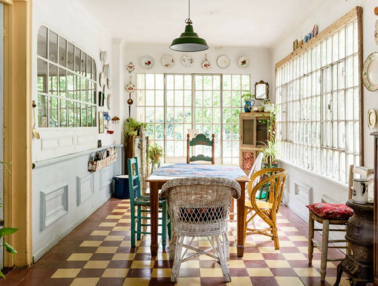 A Buenos Aires Home with A Dreamy Vintage Dining Room FEAT