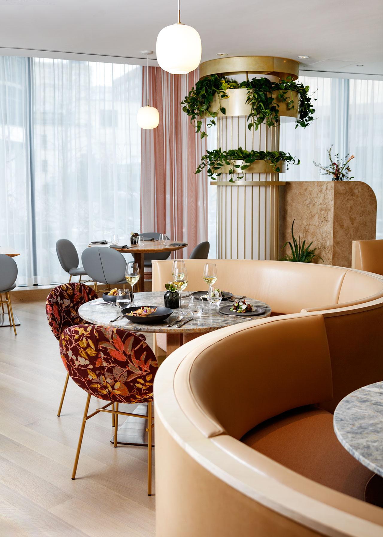 A Mid-Century Modern Restaurant with A Botanical Inspiration 4