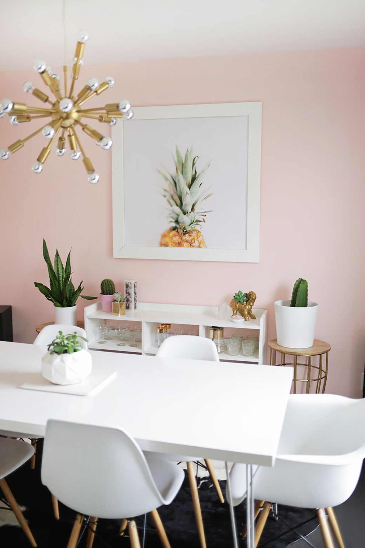 What's Hot on Pinterest 5 Pink Dining Rooms 1