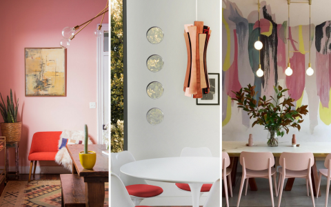 What's Hot on Pinterest 5 Pink Dining Rooms!