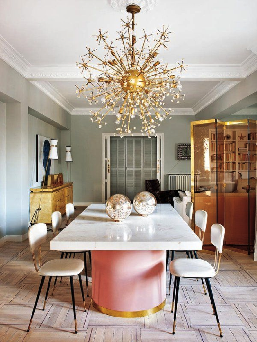What's Hot on Pinterest 5 Pink Dining Rooms 5