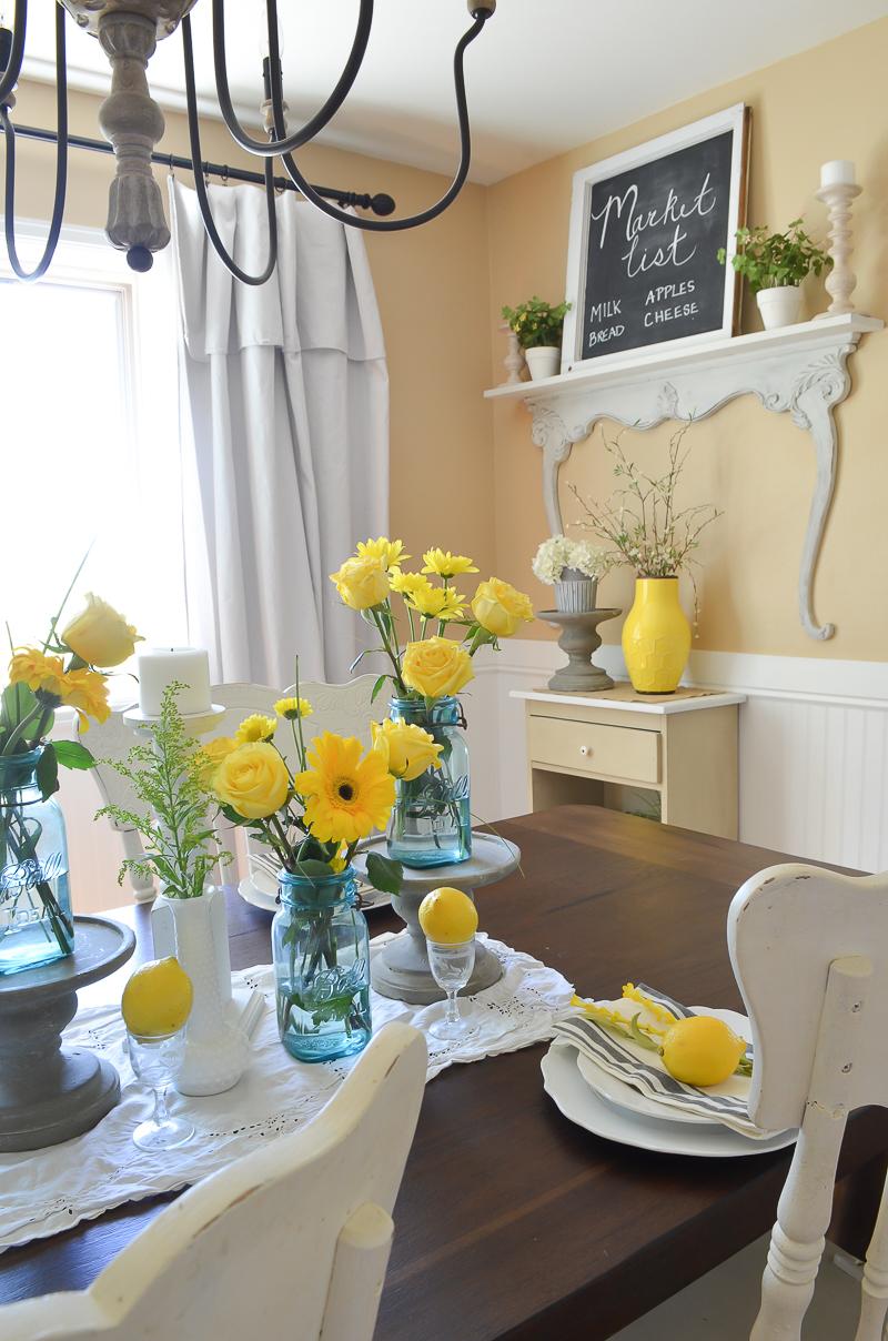 Simple Summer Vintage Dining Room Nest! 7