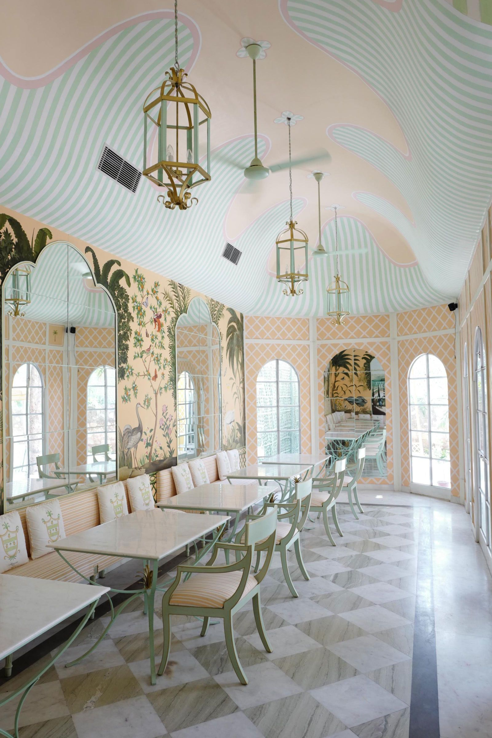 What's Hot On Pinterest Wes Anderson's Inspired Dining Room! 5
