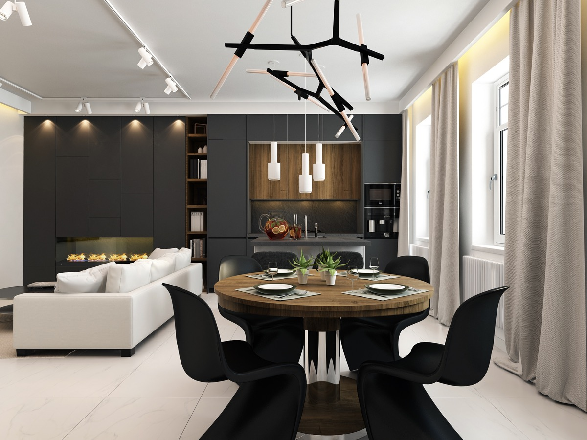 Black Dining Room Accessories For A Funtastisc Dining Room 5