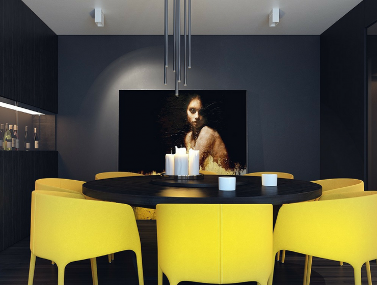 Black Dining Room Accessories For A Funtastisc Dining Room