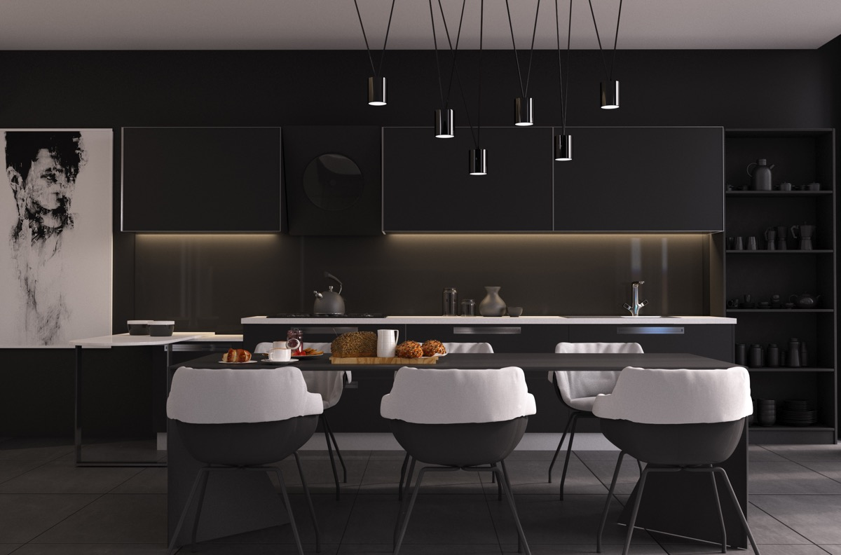 Black Dining Room Accessories For A Funtastisc Dining Room q