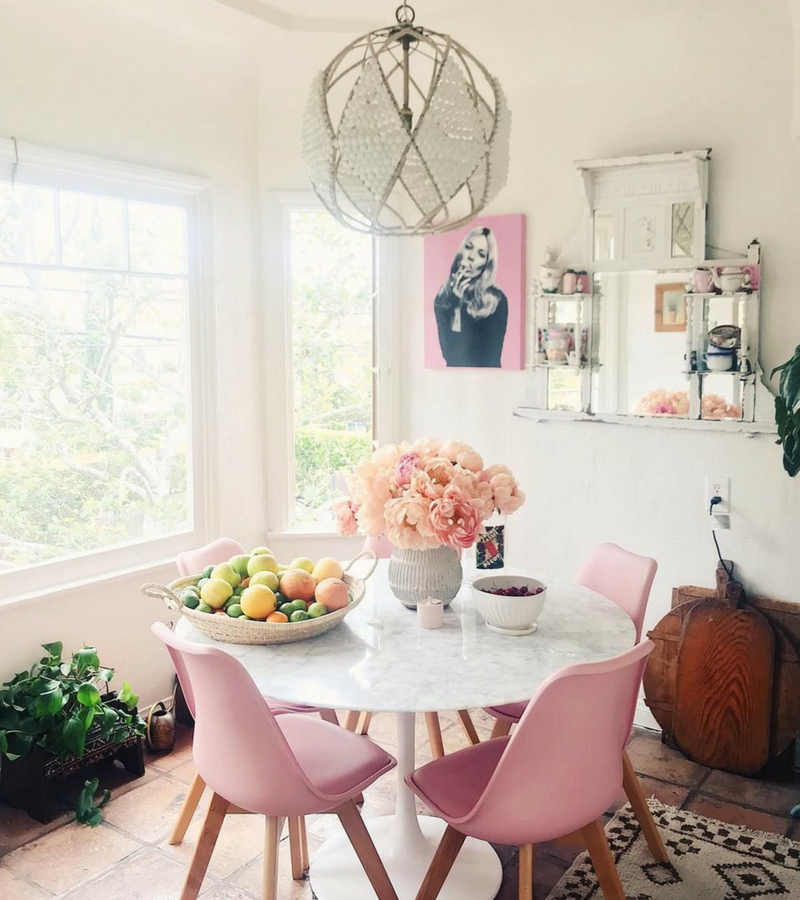While Pink In Dining Room Lighting Is A Winner Your Chairs Need Some Love Too Thought Provoking These Are Must Have