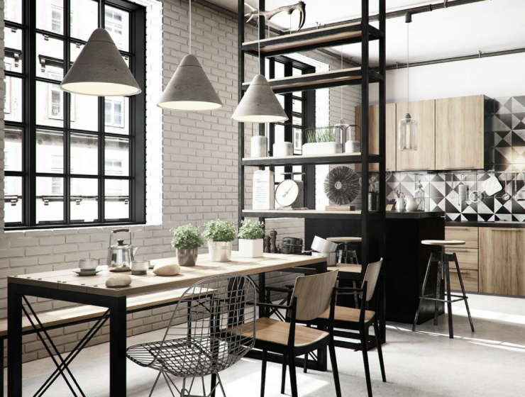 Dining Room Rules_ Industrial Dining Room Lighting As The Key Fixture