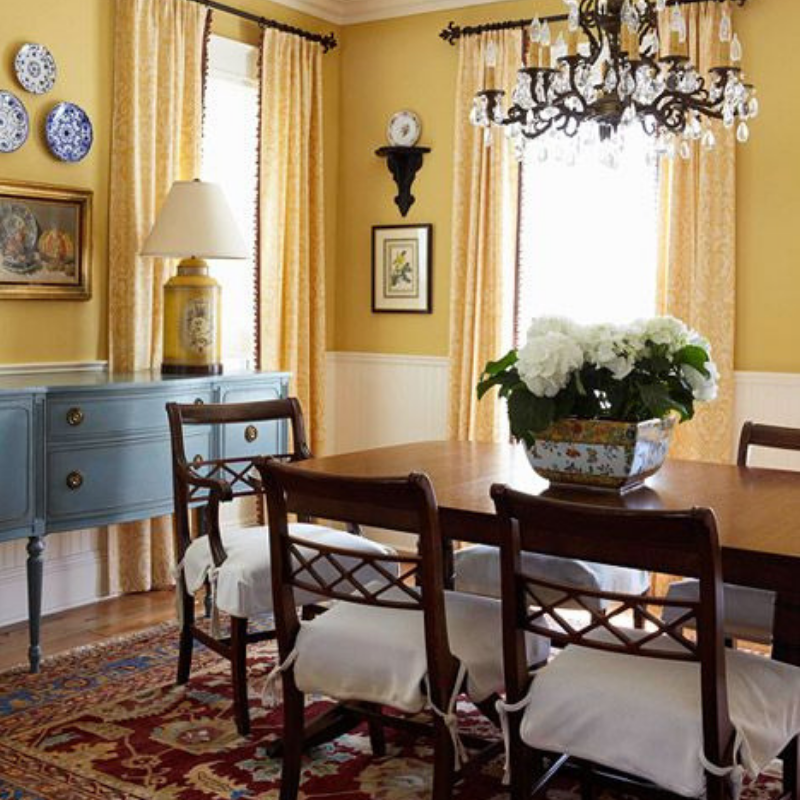 What's Hot On Pinterest 5 Yellow Ideas For Your Dining Room Style (1)