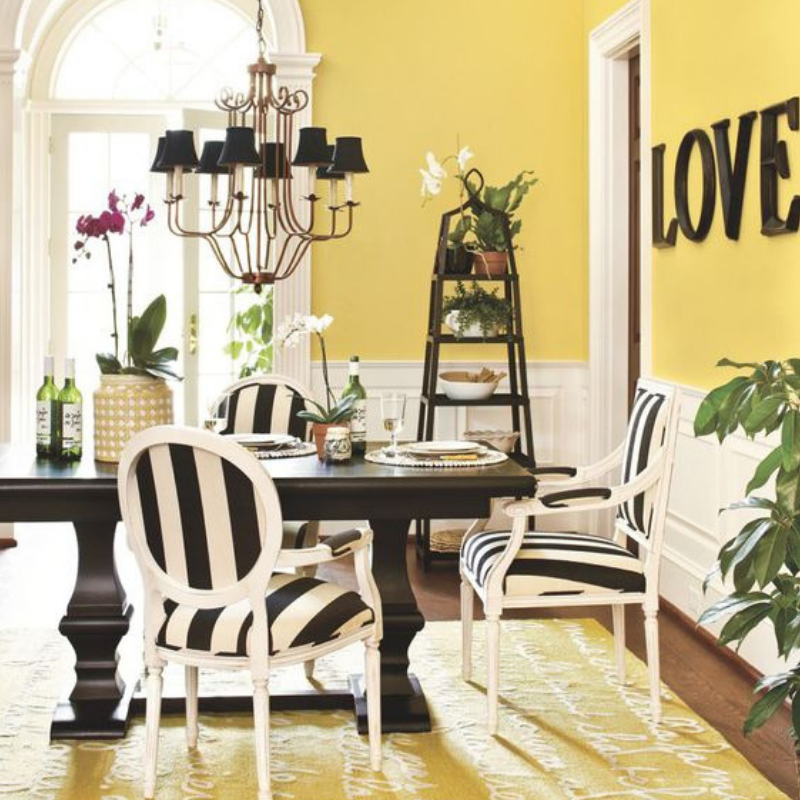 What's Hot On Pinterest 5 Yellow Ideas For Your Dining Room Style (5)