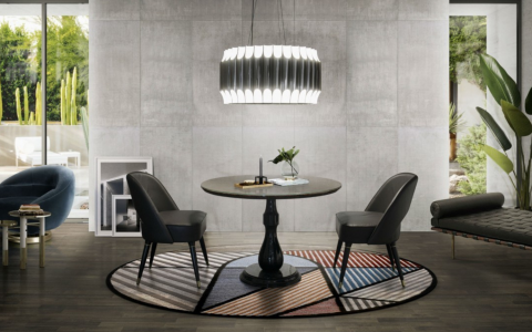 Dining Room Rules_ Galliano Round As The Perfect Lighting Piece!