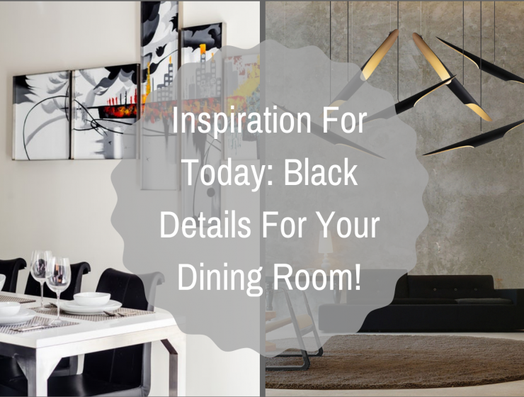 Inspiration For Today_ Black Details For Your Dining Room!