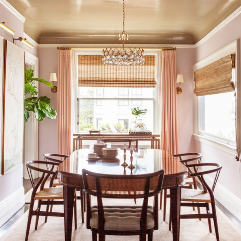What's Hot On Pinterest Rose Gold Dining Room Details (3)