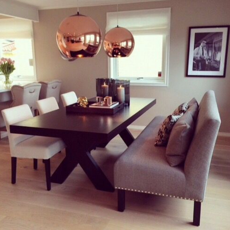 What's Hot On Pinterest Rose Gold Dining Room Details (4)