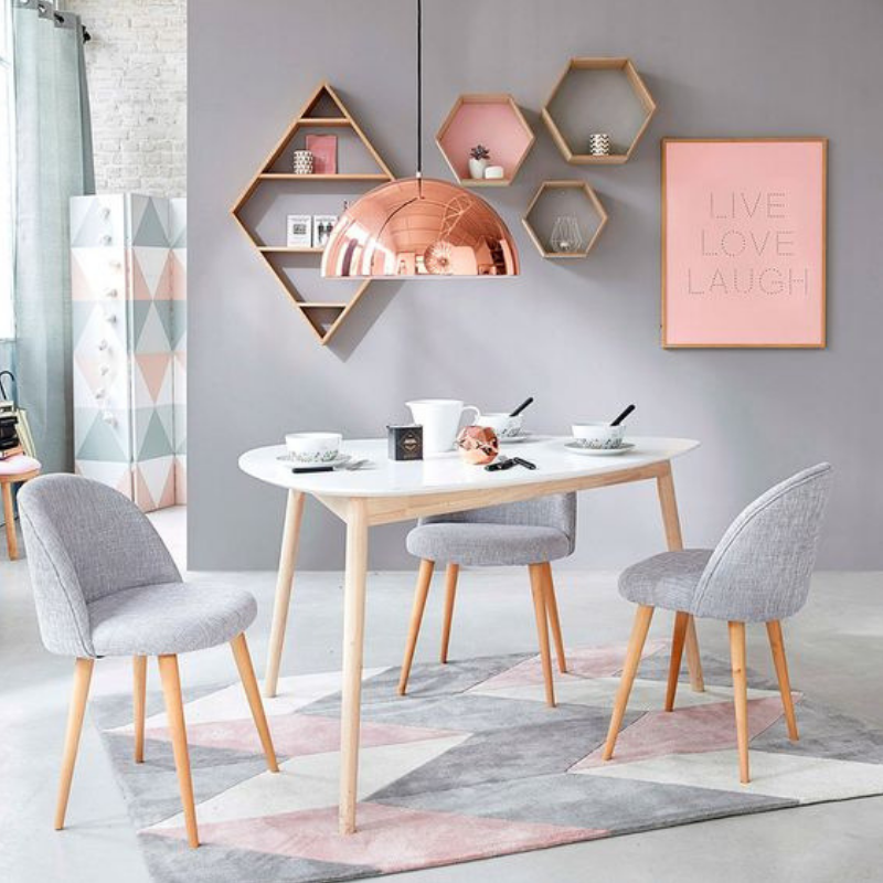 What's Hot On Pinterest Rose Gold Dining Room Details (6)