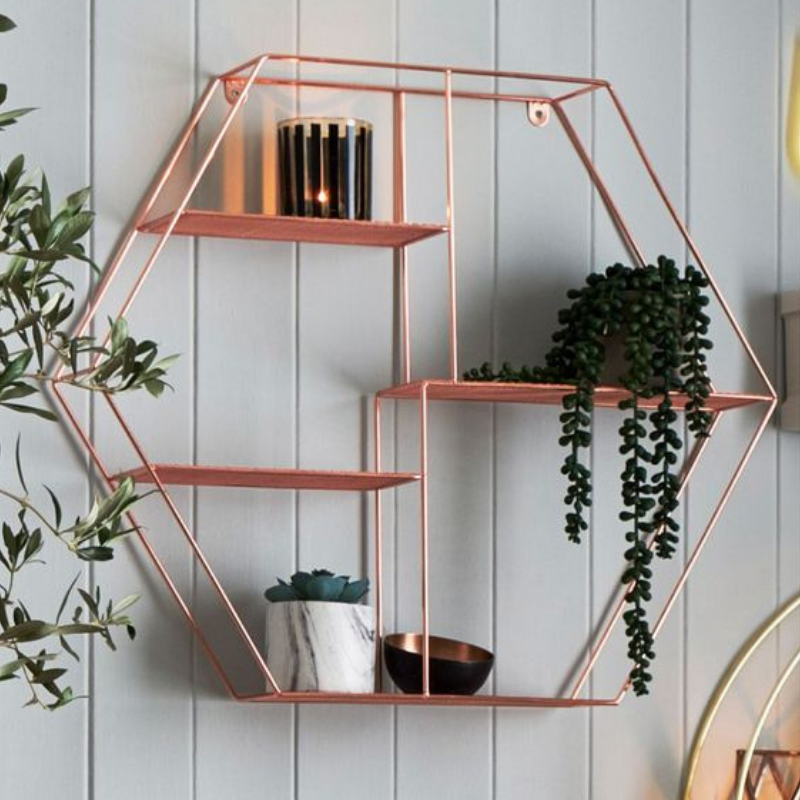What's Hot On Pinterest Rose Gold Dining Room Details (7)