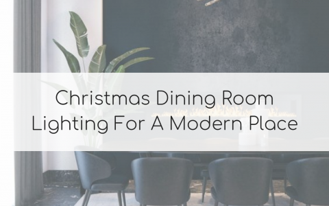 Christmas Dining Room Lighting For A Modern Place