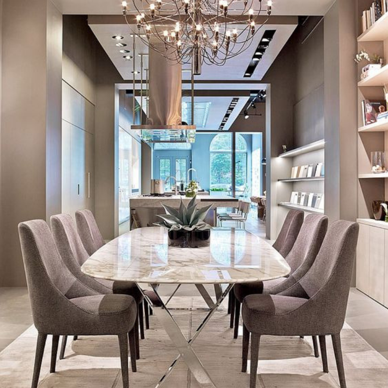 Christmas Dining Room Lighting For A Modern Place (5)