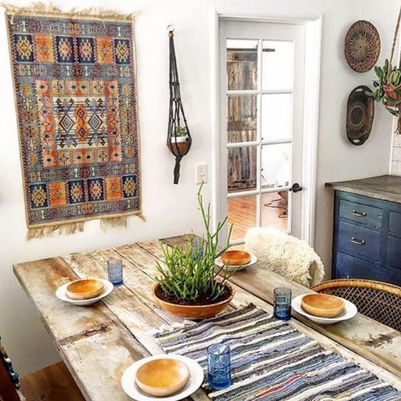 HOT ON PINTEREST 5 BOHEMIAN INTERIOR DESIGN IDEAS FOR YOUR DINING ROOM (5)