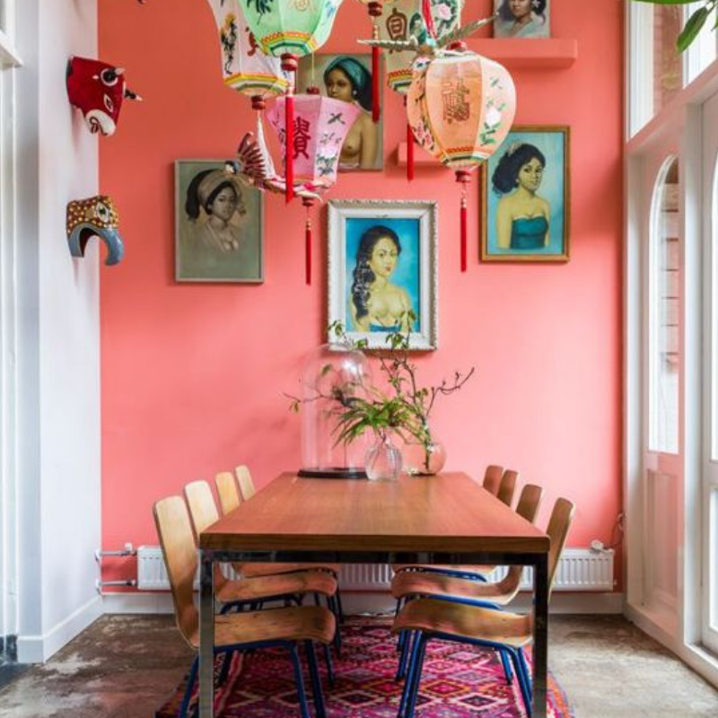 Pantone Colour Of The Year_ Coral Will Warm Your Dining Room Design (3)