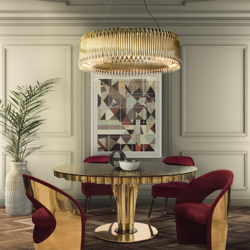 What's Hot On Pinterest Dining Room Golden Fixtures F A Better NYE! (2)