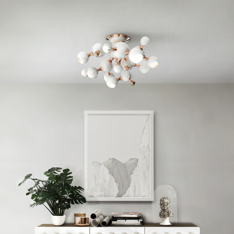 Ceiling White Lamps That Will Bright Up Your Dining Décor (2)
