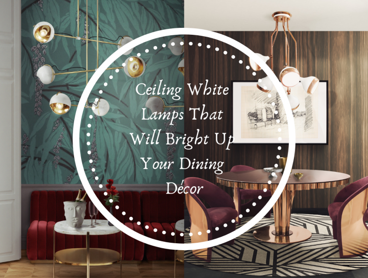 Ceiling White Lamps That Will Bright Up Your Dining Décor