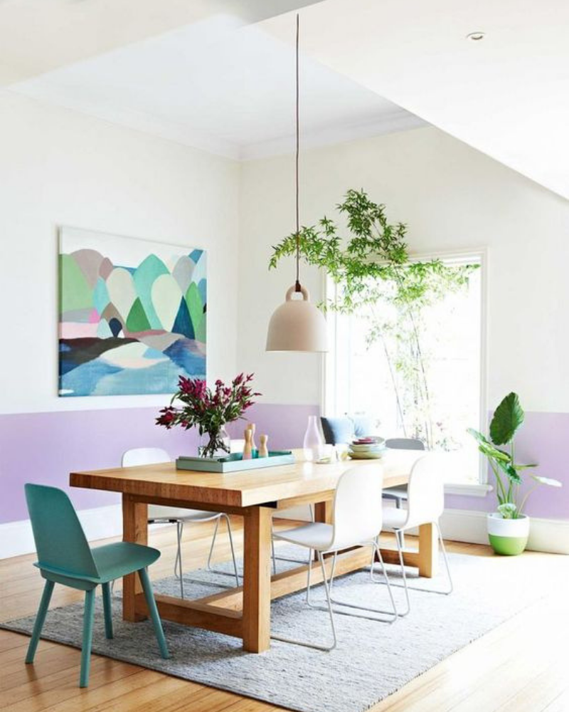 Dining Room Decoration Hand in Hand With Pastel Colours (5)
