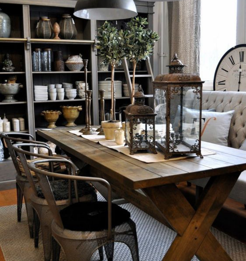 Dining Room Style Needs Some Industrial Decoration (3)