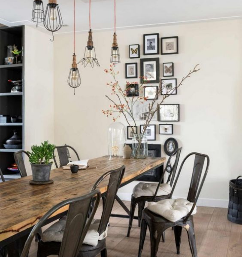 Dining Room Style Needs Some Industrial Decoration (4)