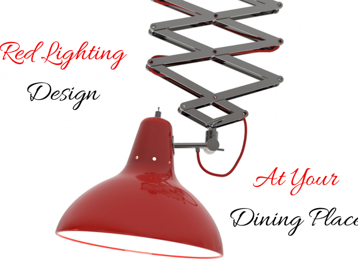 Red Lighting Design At Your Dining Place