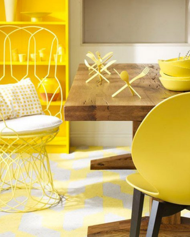 What's Hot On Pinterest Yellow Dining Room Decoration (2)