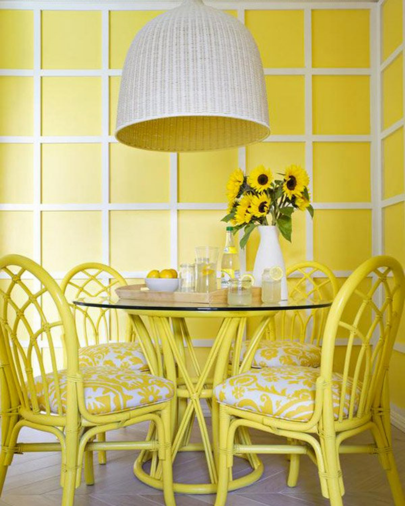 What's Hot On Pinterest Yellow Dining Room Decoration (3)