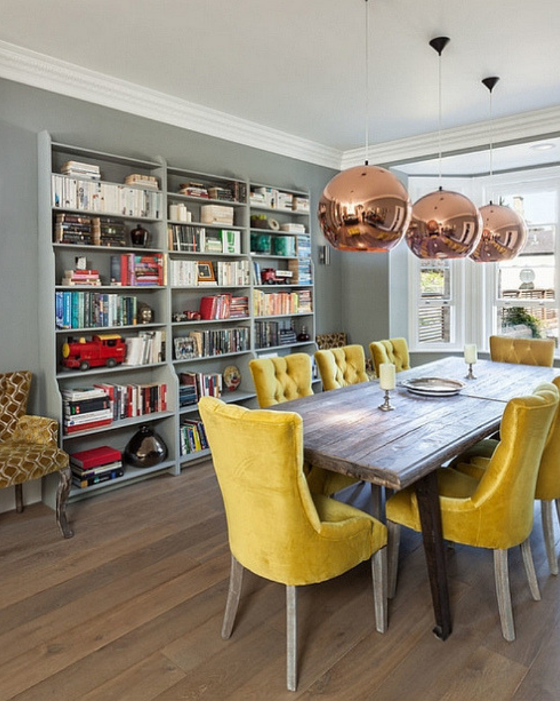 What's Hot On Pinterest Yellow Dining Room Decoration (5)