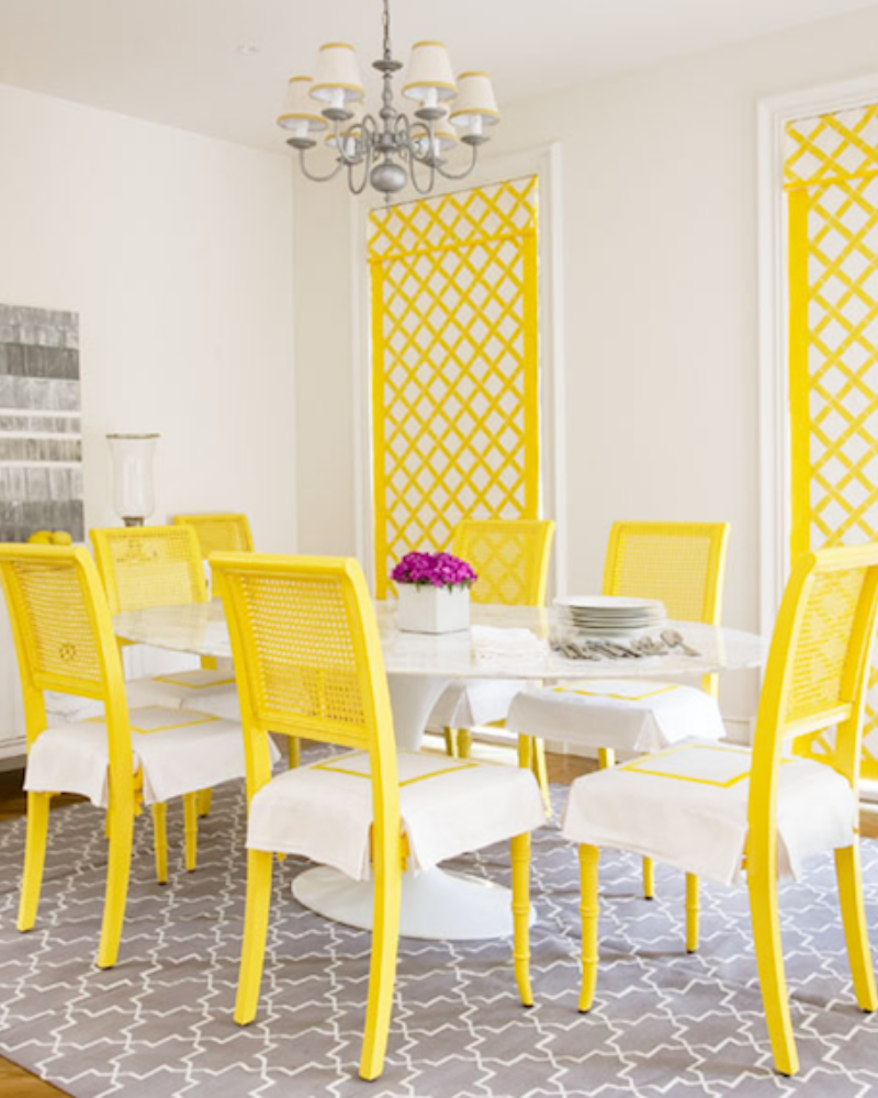 What's Hot On Pinterest Yellow Dining Room Decoration (6)