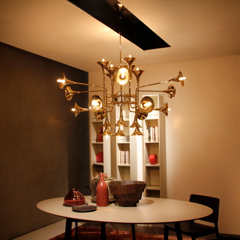 Gold Plated Lighting Pieces At Your Dining Room (2)