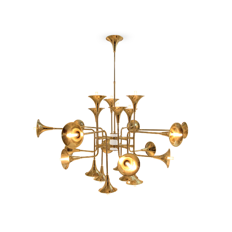 Gold Plated Lighting Pieces At Your Dining Room (3)