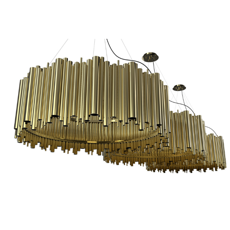 Gold Plated Lighting Pieces At Your Dining Room (5)