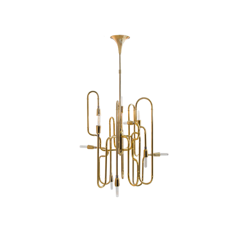Gold Plated Lighting Pieces At Your Dining Room (7)