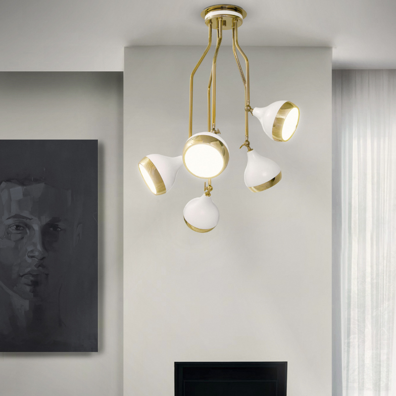 Matte White Lighting Pieces At Your Dining Room (4)