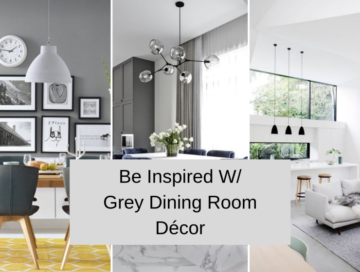 Be Inspired W_ Grey Dining Room Décor