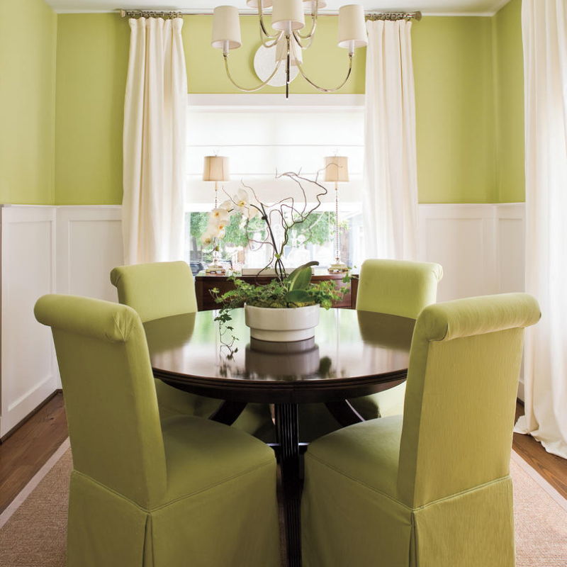 Dining Room Décor W_ The Best Lighting Green (4)