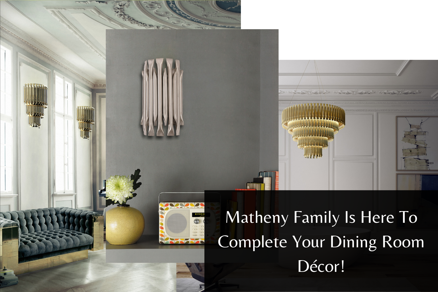 Matheny Family Is Here To Complete Your Dining Room Décor!