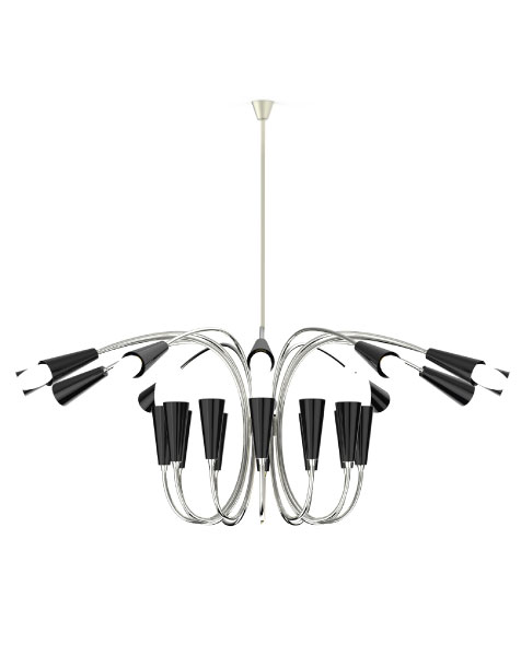 Shop The Look Mid-Century Suspension Lamps Are The Ready F You 7
