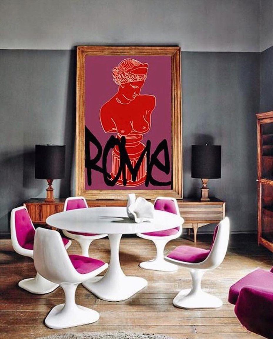 Pop Art Style in Interior Decor Dining Room Edition